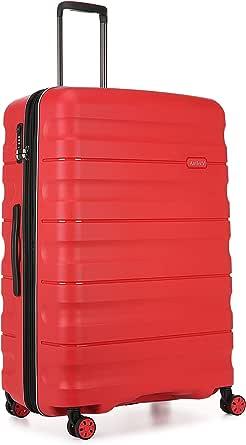 Antler Juno 2 4W Large Roller Suitcase Hardside, Red, 81cm