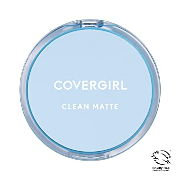 CoverGirl Clean Oil Control Pressed Powder, Buff Beige (W) 525, 0 35-Ounce  Pan (Pack of 2)