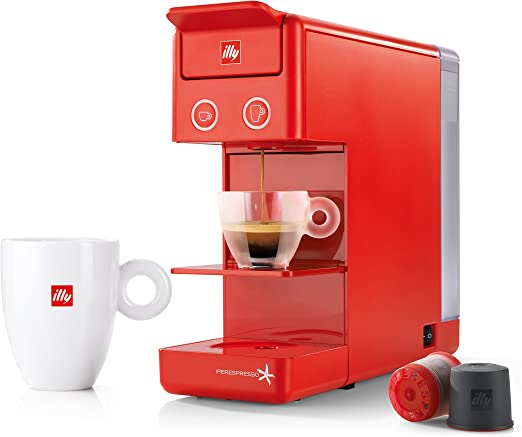 illy 60298 y3.2 Espresso and Coffee Machine, 12.20x3.9x10.40, Red