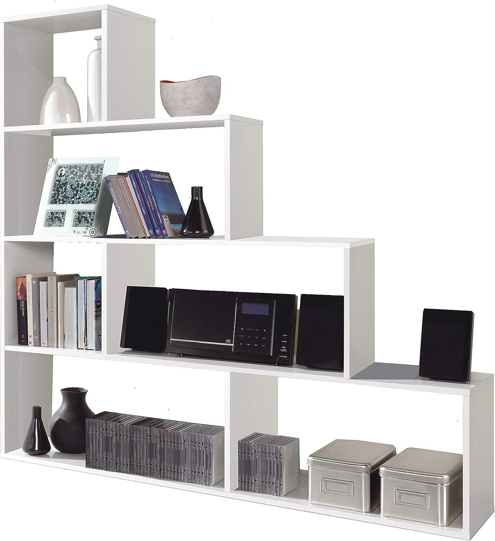ferramenta-utensili Libreria Mod Klum 6 vani colore bianco cm 145x29x145 h