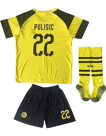 e013505a877 LES TRICOT 2018/2019 Borrusia Dortmund BVB Home #22 Christian PULISIC Soccer  Kids Jersey
