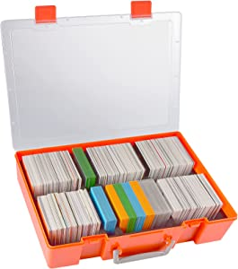 2200+ Card Game Case Holder, Trading Cards Storage for Main Game and All Expansions. Deck Box Carrying Organizer Compatible with PM TCG Cards Against Humanity MTG Yugioh Dominion UNO