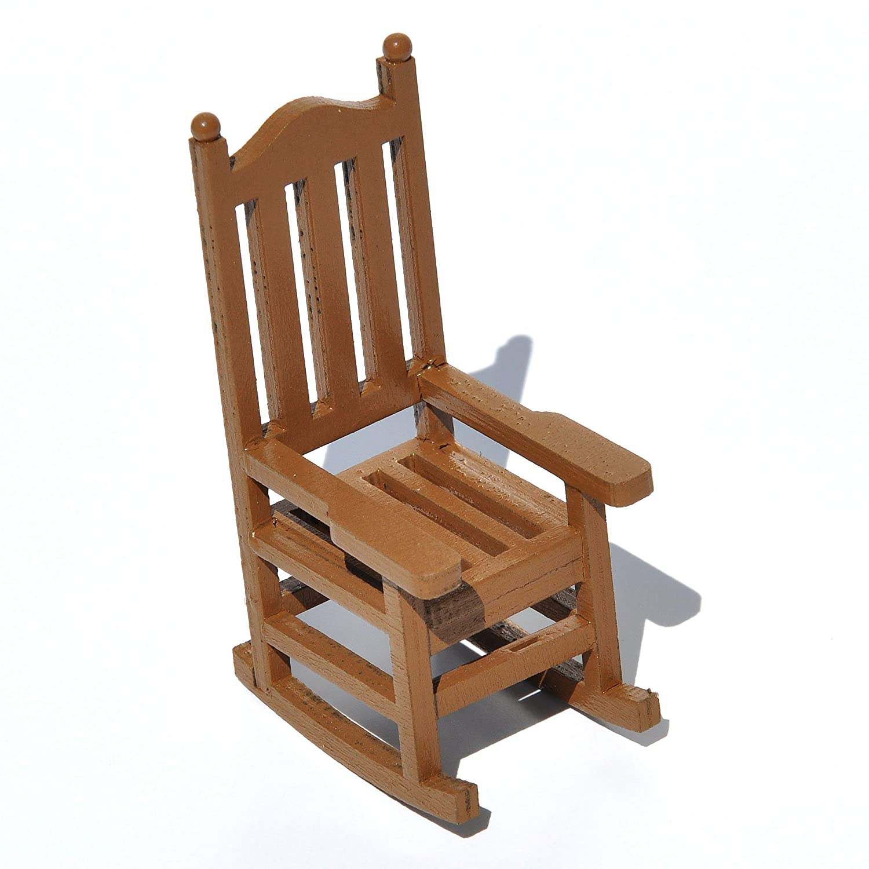 Amazon.com : Wooden Rocking Chair for Miniature Garden, Fairy Garden ...