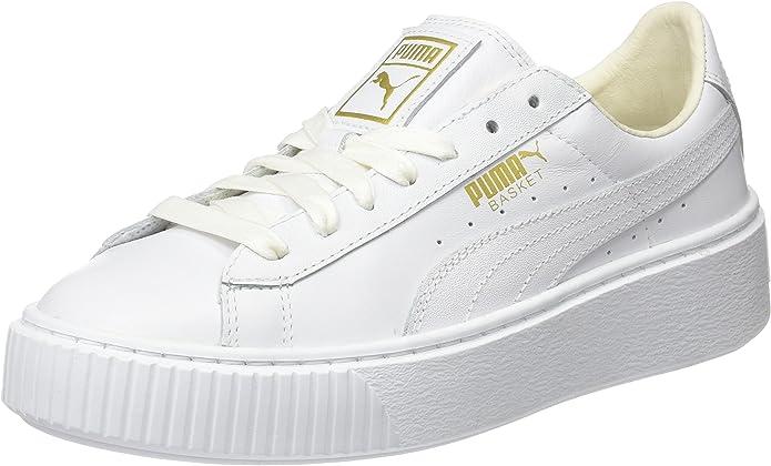 puma basket platform donna bianche