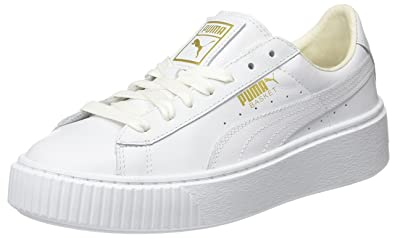 42f664727d16 Puma Women s Basket Platform Core Low-Top Sneakers  Amazon.co.uk ...