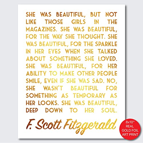 Amazoncom She Was Beautiful F Scott Fitzgerald Quote Decor