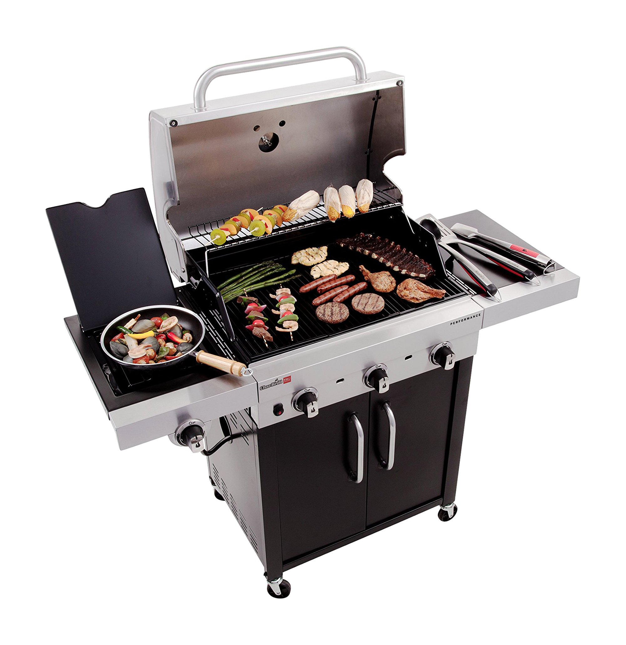 Char-Broil Performance TRU-Infrared 450 3-Burner Cabinet Liquid Propane Gas Grill by Char-Broil (Image #4)