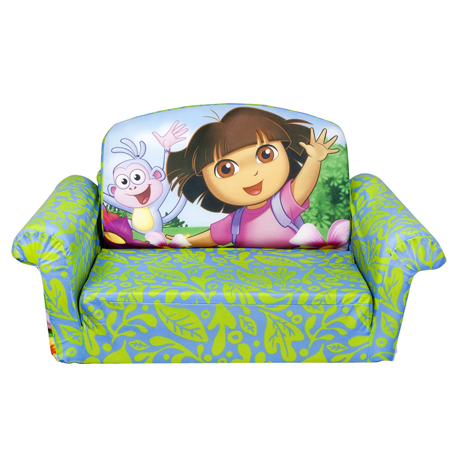 Marshmallow Furniture, 2 in 1 Flip Open Foam Sofa, Dora the Explorer, by Spin Master