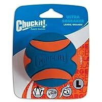 Chuckit 52069 Ultra Squeaker Ball, 1 Pelota para Perros Compatible con el Lanzador, L