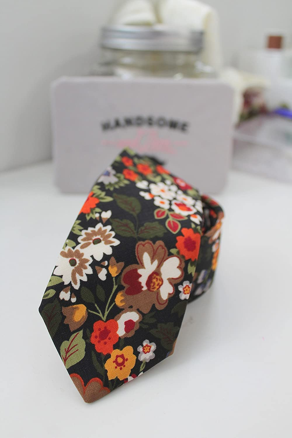Garden Floral Neck Tie by Handsome&Lace