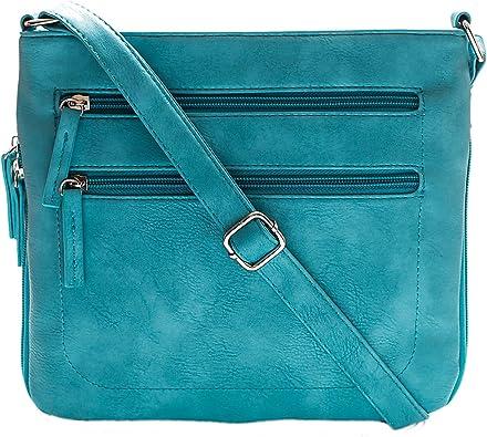 New Women's Stylish Two Tone Multi Pocket Adjustable Shoulder Strap Bag