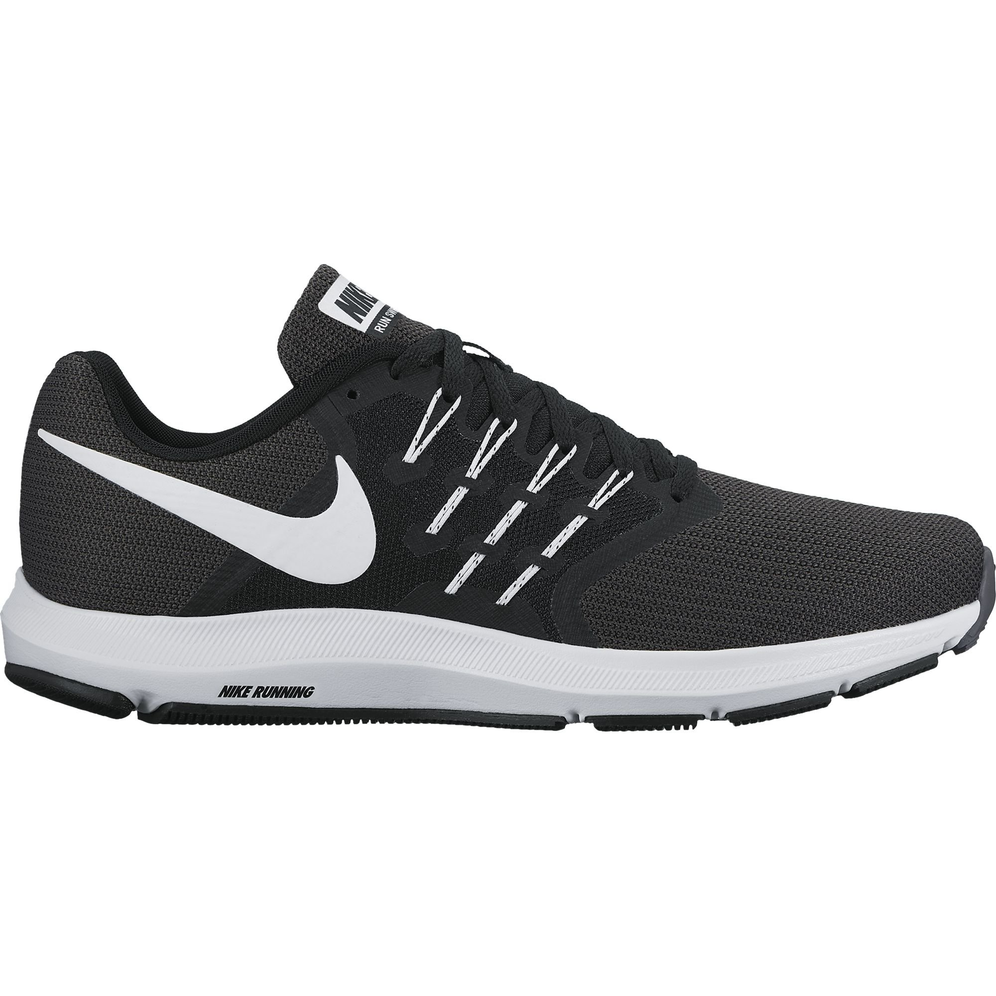 39f9c279e18 Galleon - NIKE Men s Run Swift Running Shoe Black White Dark Grey Size 7.5  M US