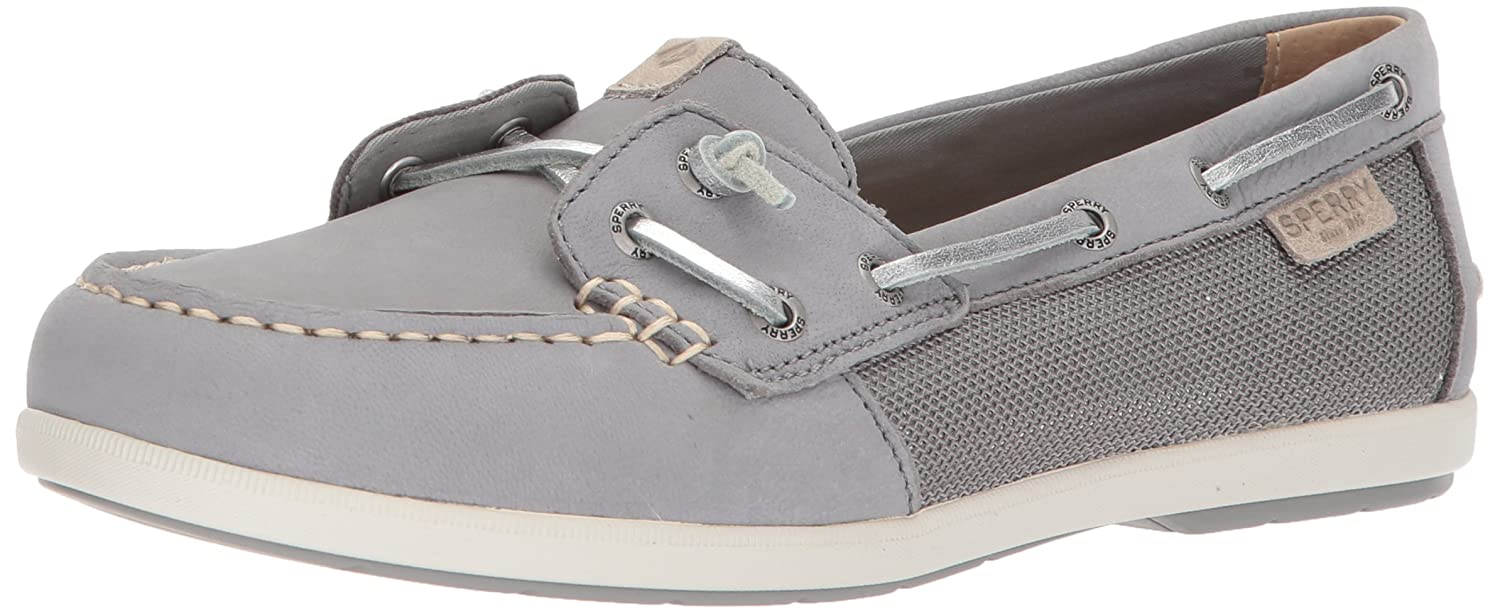 Grey Sperry Womens Coil Ivy Metallic Boat shoes