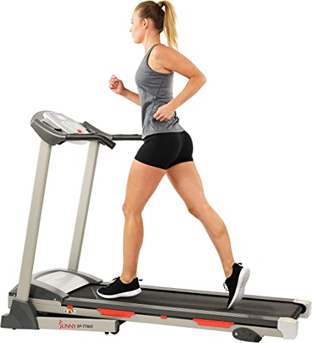 Sunny Health Fitness SF-T7603 Electric Treadmill w 9 Program