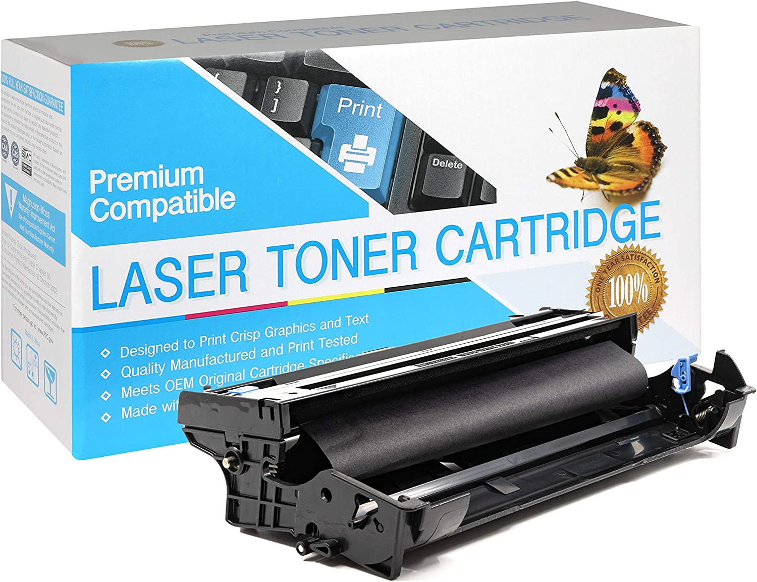 USA Advantage Compatible Drum Unit Replacement for Brother DR400 DR-400 for Use with Intellifax 4750 Black,1 Drum
