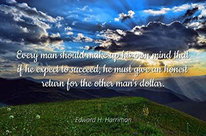 Amazoncom Edward H Harriman Famous Quotes Laminated Poster