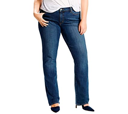 Levis Womens Plus-Size 414 Classic Straight Jeans, Oak ...
