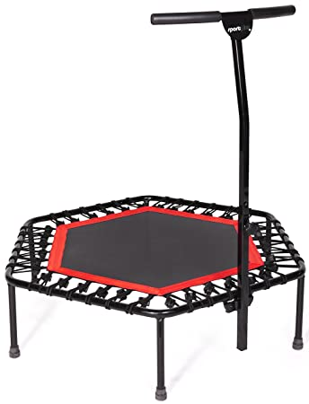 Sportplus Silent Fitness Mini Trampoline - The Best Mini Rebounder with a Handrail