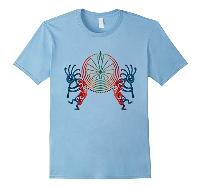Amazon Colored Kokopelli With Man In The Maze T Shirt Clothing