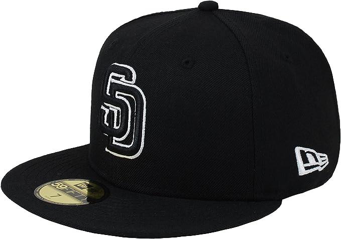 innovative design nice cheap cheaper Amazon.com: New Era 59Fifty Men's Hat MLB San Diego Padres Black ...
