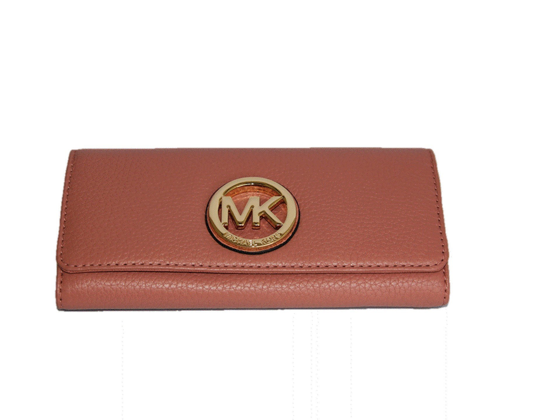 Michael Kors Fulton Flap Leather Continental Wallet - Antique Rose