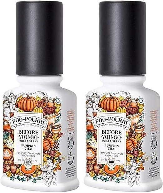Amazon Com Poo Pourri Before You Go Toilet Spray Pumpkin Chai 2 Ounce 2 Pack Home Kitchen