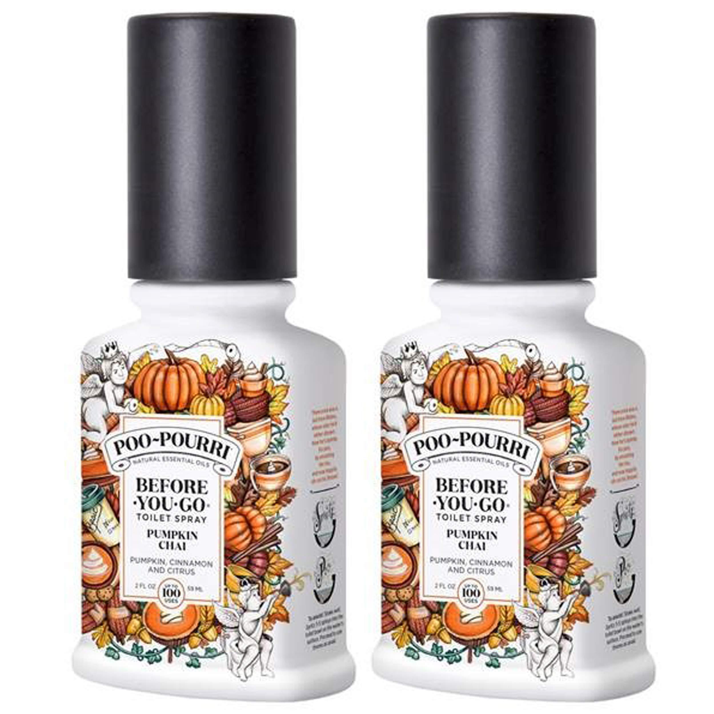 Poo-Pourri Before You Go Toilet Spray Pumpkin Chai 2 Ounce, 2 Pack by Poo-Pourri