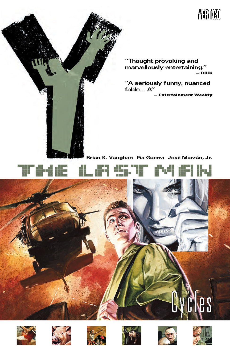 Amazon.com: Y: The Last Man, Vol. 2: Cycles (0001401200761): Brian K.  Vaughan, Pia Guerra, Jose Marzan: Books