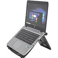 """Kensington Easy Riser, Ergonomik Laptop Soğutma Standı (12""""-17"""" Bilgisayarlar Için), Secure Fit Ve Smart Fit Sistemi, Siyah"""
