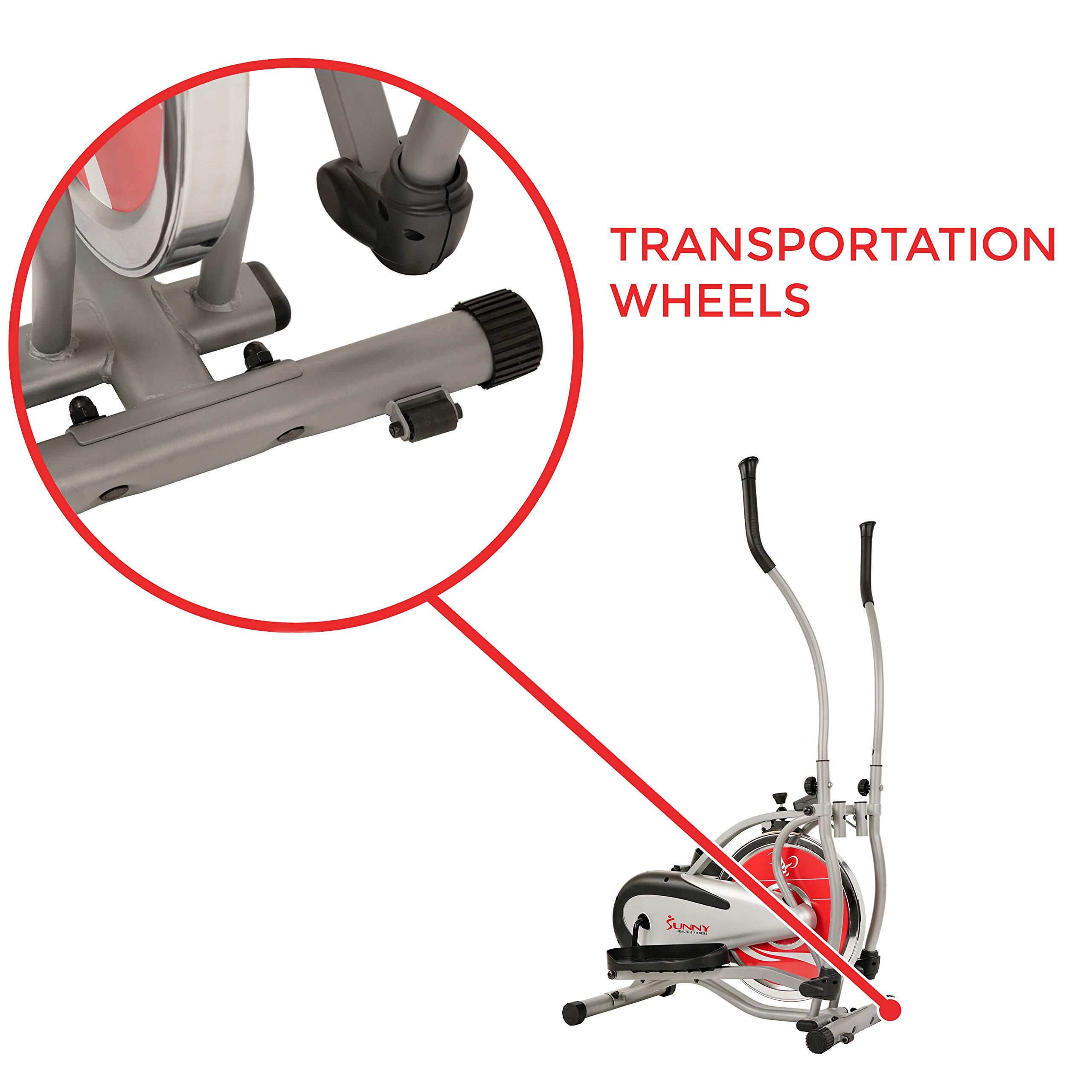 Sunny Health & Fitness SF-E1405 Flywheel Elliptical Trainer, Gray by Sunny Health & Fitness (Image #6)