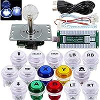 SJ@JX Arcade Game Controller USB Encoder DIY Kit LED Cherry MX Microswitch Lamp Button 4-8way LED Joystick Gamepad Code…