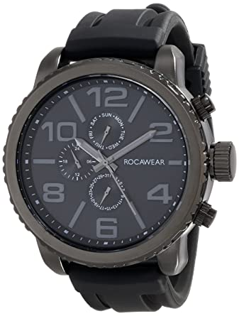 Amazon.com: Rocawear Mens RM0210BK1-362 Analog Display Analog Quartz Black Watch: Watches