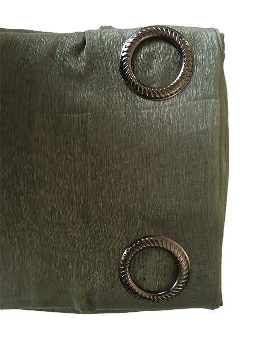 Amazon.com: Grommet Semi-Sheer Curtains - 2 Pieces - Total Size ...