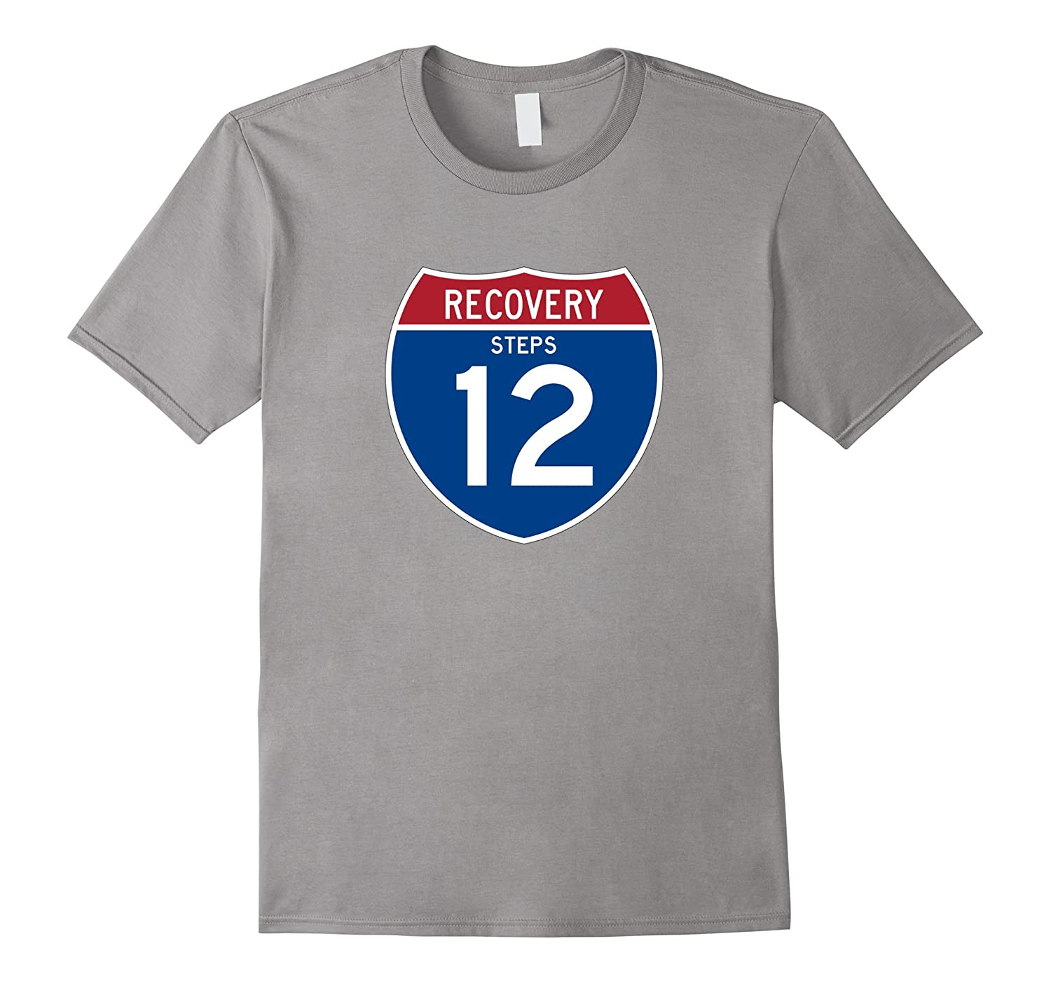 'Recover Highway 12 Road Sign' AA 12 Step Recovery T-Shirt-TH