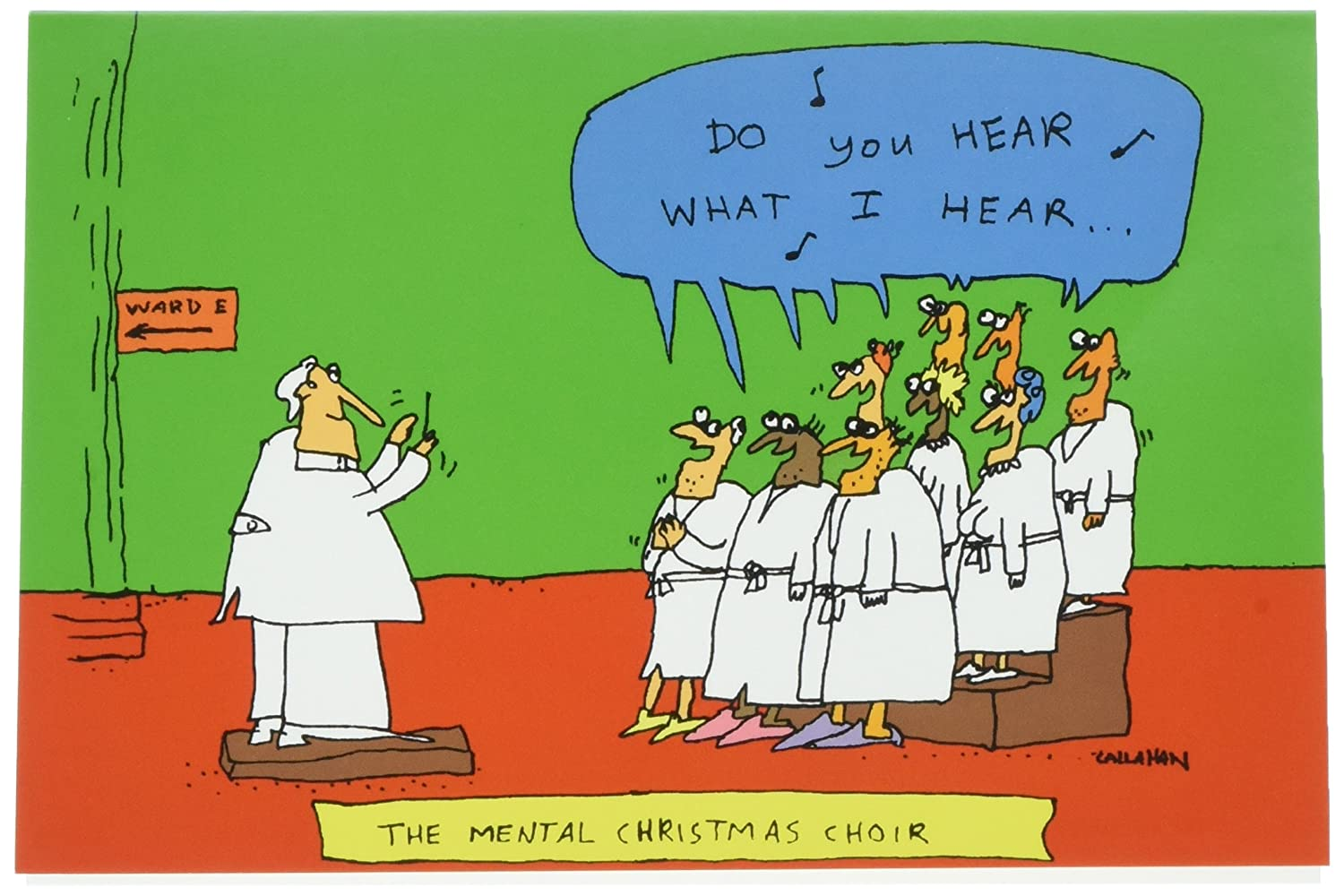 Amazon 1504 mental choir funny merry christmas greeting amazon 1504 mental choir funny merry christmas greeting card with 5 x 7 envelope by nobleworks office products kristyandbryce Image collections