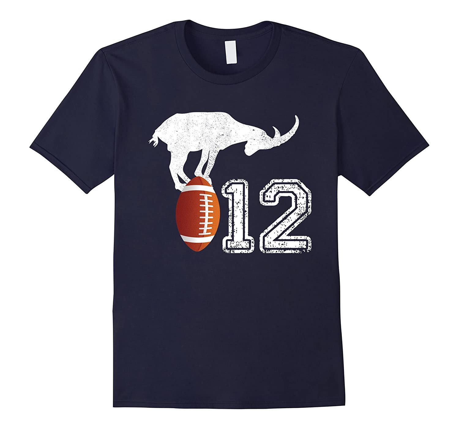 # 12 Vintage Goat T-Shirt - The Greatest Of All Time Te-Rose