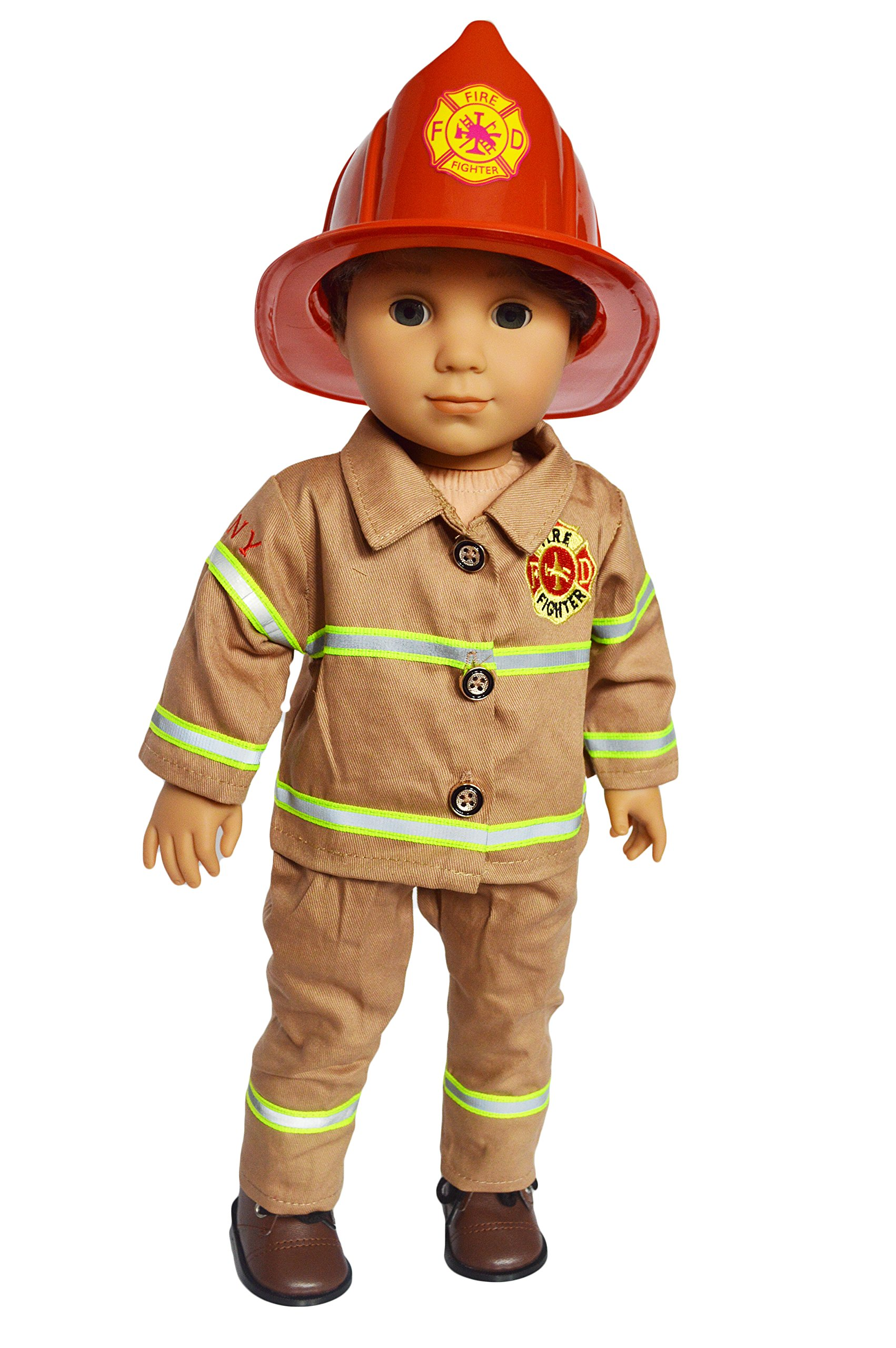 My Brittany's Fire Fighter Outfit for American Girl Boy Dolls- 18 Inch Boy Doll Clothes