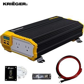 Krieger 2000 Watts Power Inverter 12V to 110V