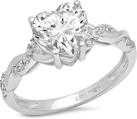2.04CT BRILLIANT CUT BRIDAL ENGAGEMENT RING /& WEDDING BAND IN 14K WHITE GOLD