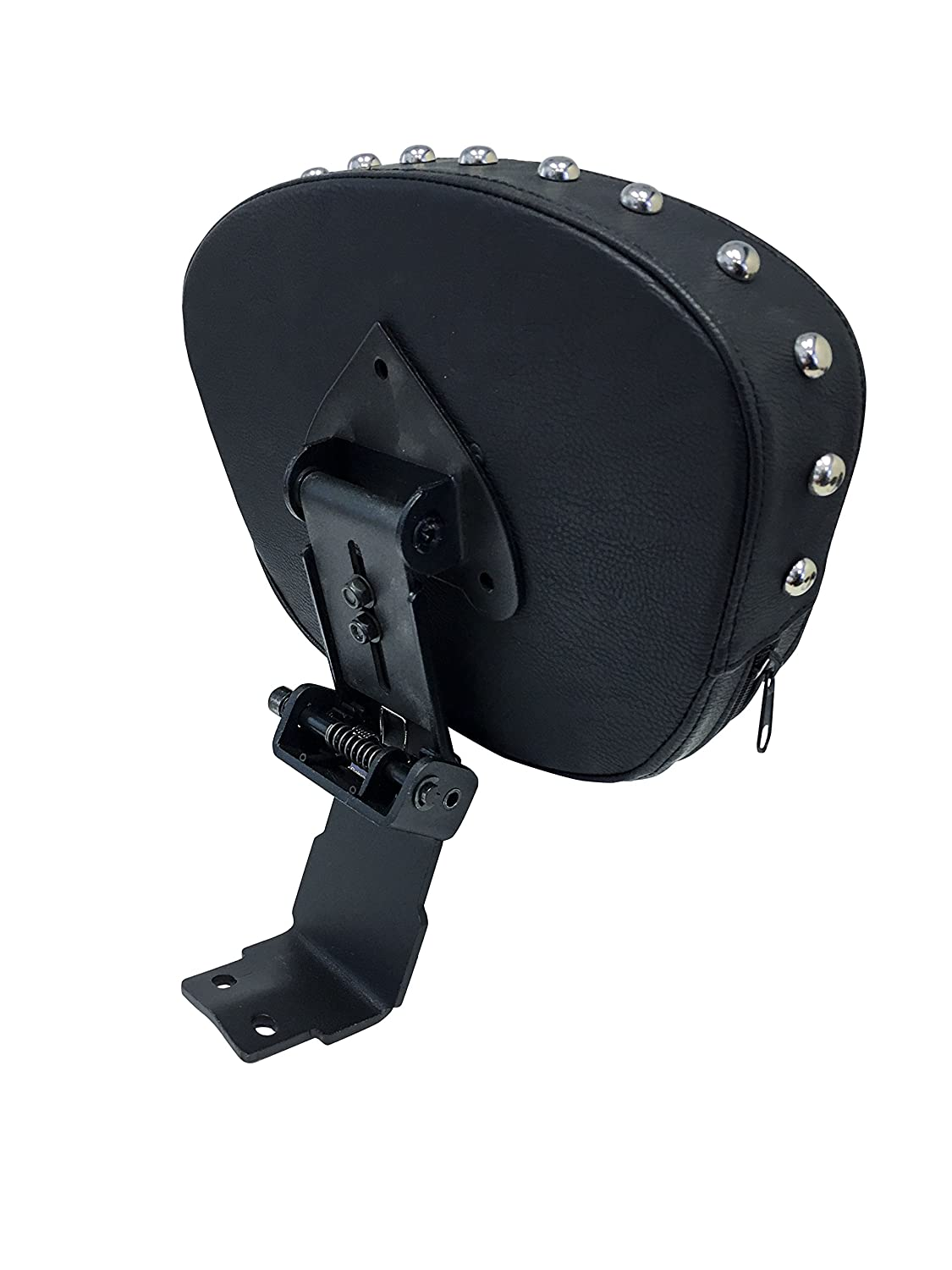 Studded Contoured Fully Adjustable Drivers Backrest for 00 Yamaha V-Star 1100 Classic