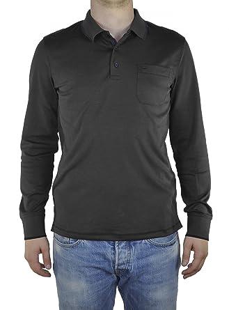 online store 711c9 7f343 Redmond - Casual Fit - Herren Langarm Polo Shirt mit ...