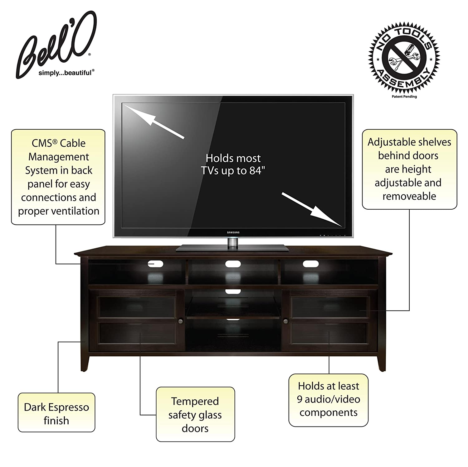 video audio component wood stand corner lapland visual cabinet small info holidays
