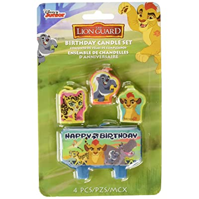 "Amscan 170454 Disney""The Lion Guard"" Birthday Candle Set, Multicolor: Toys & Games"