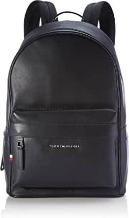 Tommy Hilfiger Elevated PU Backpack, Bolsas. para Hombre