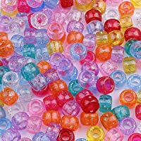 Beads Jewelry Making diameter of acrylic barrel beads is about 9mm Height about 6mm aperture about 4mm 100 / bag