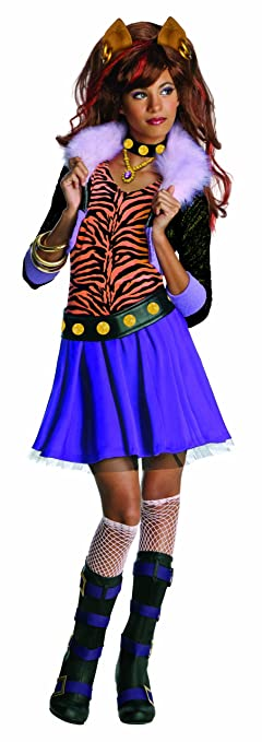 Amazon.com: Monster High Clawdeen Wolf Costume - One Color - Small ...
