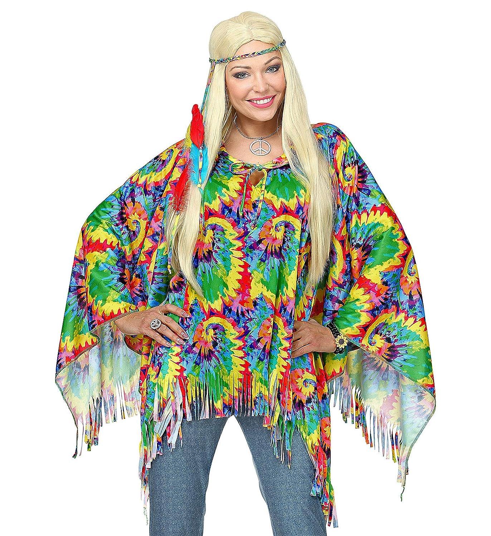 WIDMANN 75727 adultos Disfraz Psychedelic hippie, niña, multicolor ...