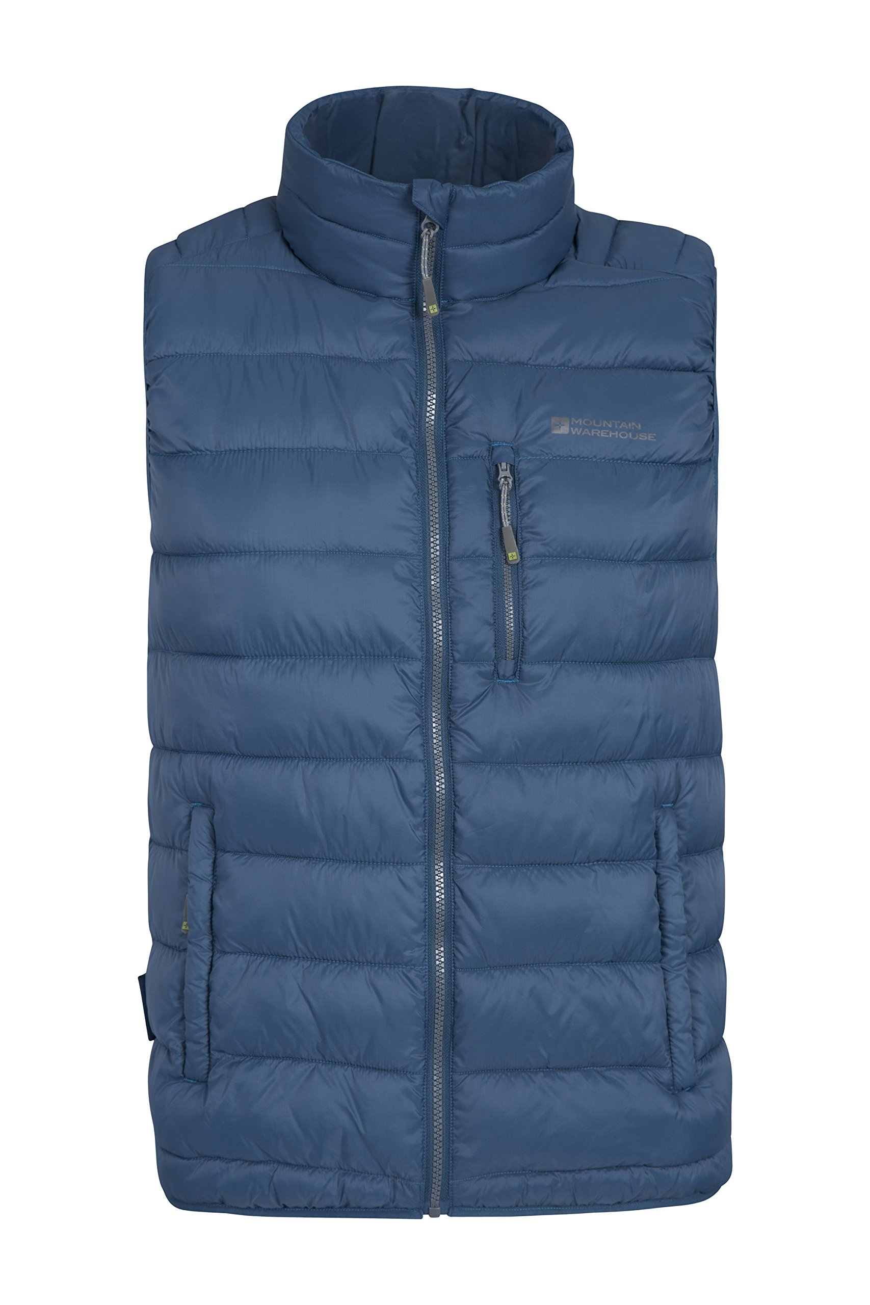 Mountain Warehouse Link Mens Padded Gilet - Summer Body Warmer Coat Petrol Blue Medium