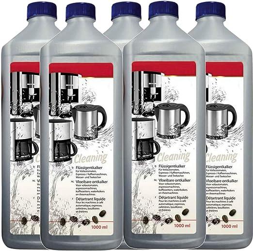 TronicXL - Descalcificador para cafeteras automáticas (5 L, compatible con Dolce gusto Nespresso Delonghi Krups Bosch Tassimo Tchibo Senseo Siemens Bosch Philips Jura ...