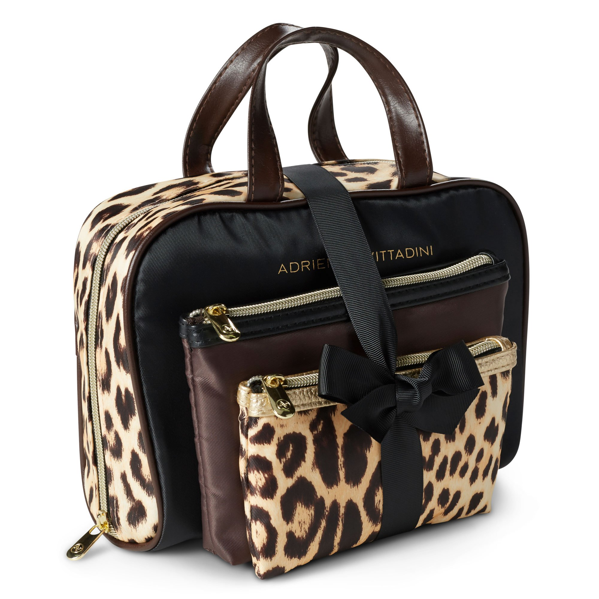 cde19355b4 Adrienne Vittadini Cosmetic Bag Set  3 Travel Makeup Toiletry Bags with  Zippered Closure - Large